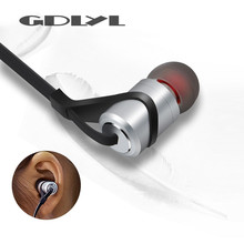 GDLYL New Wireless Bluetooth Earphones Sport Running Headphones Metal Magnetic Headset Stereo Bass Earbuds Handsfree With Mic