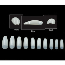 Coffin Nails Long Ballerina Nail Tips
