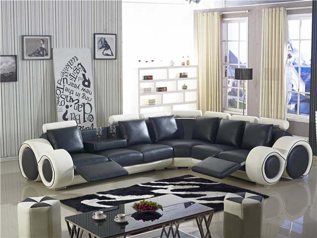 Online Shop Recliner Sofa New Design Large Size L Shaped Sofa Set
