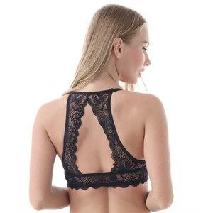Image 4 - MiaoErSiDai סקסי בנות חזיית סט קדמי סגירת Y קו תחרה חזיות לנשים חלקה לדחוף את גדול גודל עבור אישה חזייה חוטיני A DD