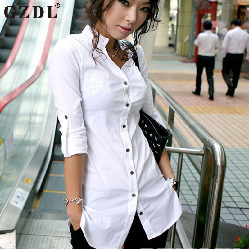 Popular boyfriend fit shirts buy cheap boyfriend fit for Fitted white dress shirt womens