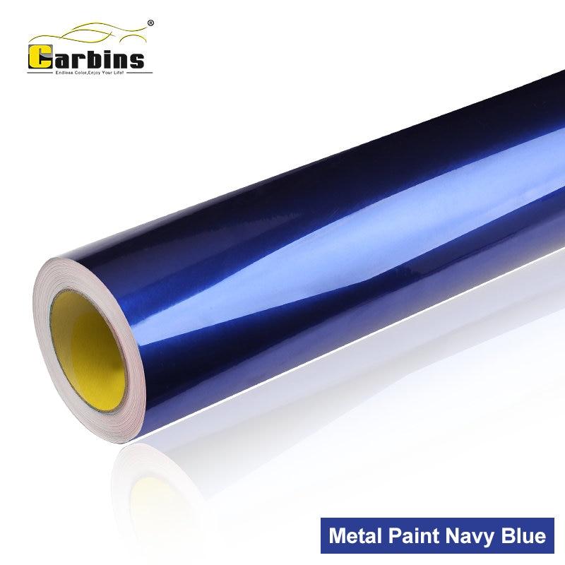 все цены на Carbins Film Metal Paint Navy blue High Quality Vinyl Car Wrap