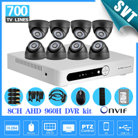 8ch CCTV System 700TVL IR Cameras HDMI AHD 960H Recording DVR 8channel Security Camera Video Surveillance