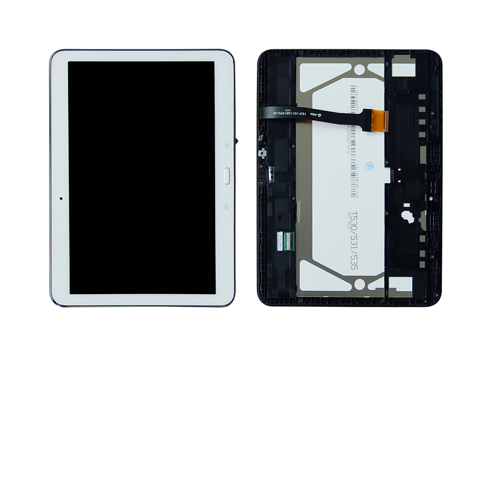 купить Free Shipping For Smasung Galaxy Tab 4 SM-T530NU T530 Touch Screen Digitizer + LCD Display Assembly Frame Replacement по цене 3310.12 рублей