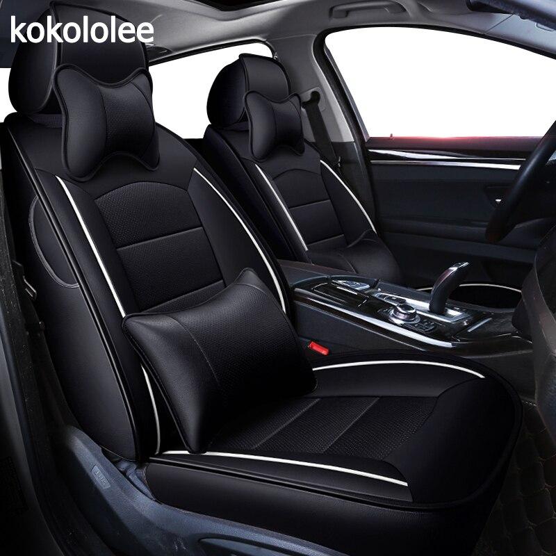 Housse de siège de voiture en cuir véritable sur mesure kokolololee pour Toyota corolla chr 86 auris Fortuner Alphard prius avensis camry land cruiser
