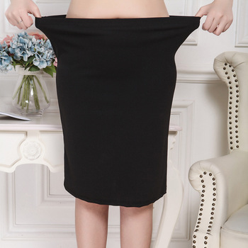 XL-8XL Plus Size Women Summer Skirts Casual Black Large Size Office Ladies Work Skirt Faldas 6XL 7XL Stretch OL Skirt Clothings 3