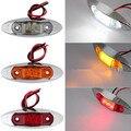 10 unids ámbar amarillo blanco rojo impermeable Side Marker Lights liquidación del acoplado del carro del coche Bus 3 LED 12 V 24 V