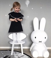 Ins Hot H80CM Rabbit Children LED Dimmable Bedside Table Lamp LED nijntje rabbit Baby kids Bedroom decor Lampen
