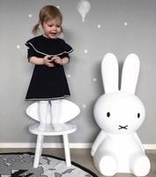 Ins Hot H80CM Rabbit Children LED Dimmable Bedside Table Lamp LED nijntje rabbit Baby kids Bedroom decor Lampen