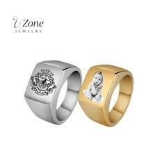 Мужское кольцо с гравировкой из нержавеющей стали