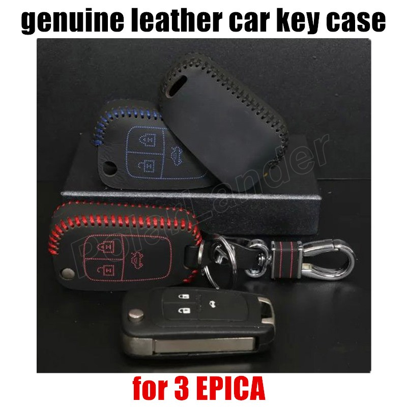 Only Redhot sale car key case leather hand sewing car key cover fit for CHEVROLET NEW CRUZE SIAL 3 EPICA free shipping