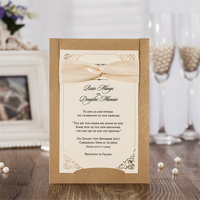 10sets beautiful laser cut wedding invitations card vintage style wedding decoration paper card party favors invitation - Vintage Style Wedding Invitations