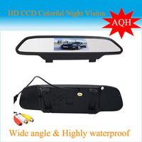 NEW 4.3 inch TFT Car LCD Rear View Rearview DVD Mirror Monitor for car CCD camera cam.Free Shipping