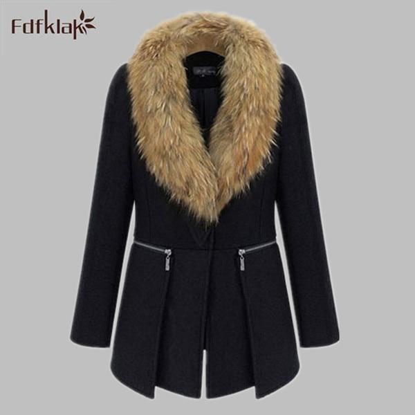Plus Size Women Jacket 2017 New Europe Autumn Winter Coat Female Luxury Faux Fur Collar Wool Coat XL XXL 3XL 4XL 5XL 6XL E0480 женское платье andys 5xl m l xl xxl 3xl 4xl 5xl vestidos f27