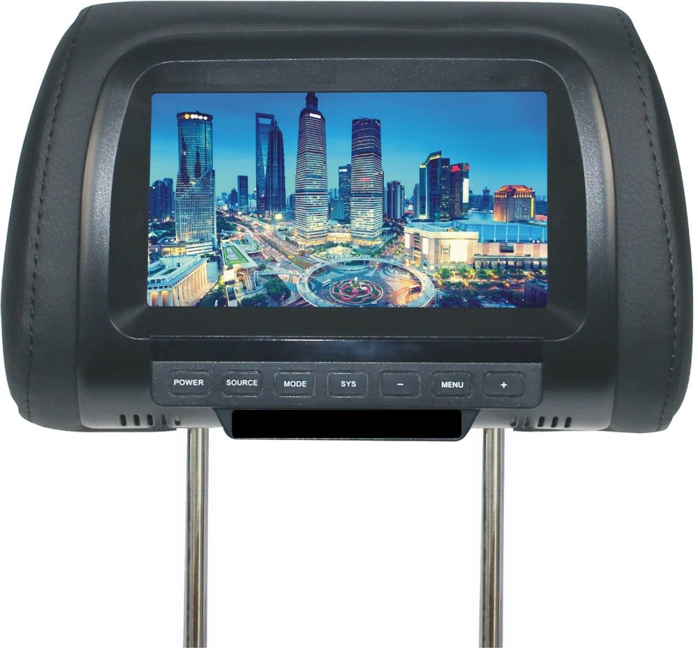 High quality Factory direct 7 inch TFT LCD screen pillow monitor DC 12V dual video inputs black color SH7038