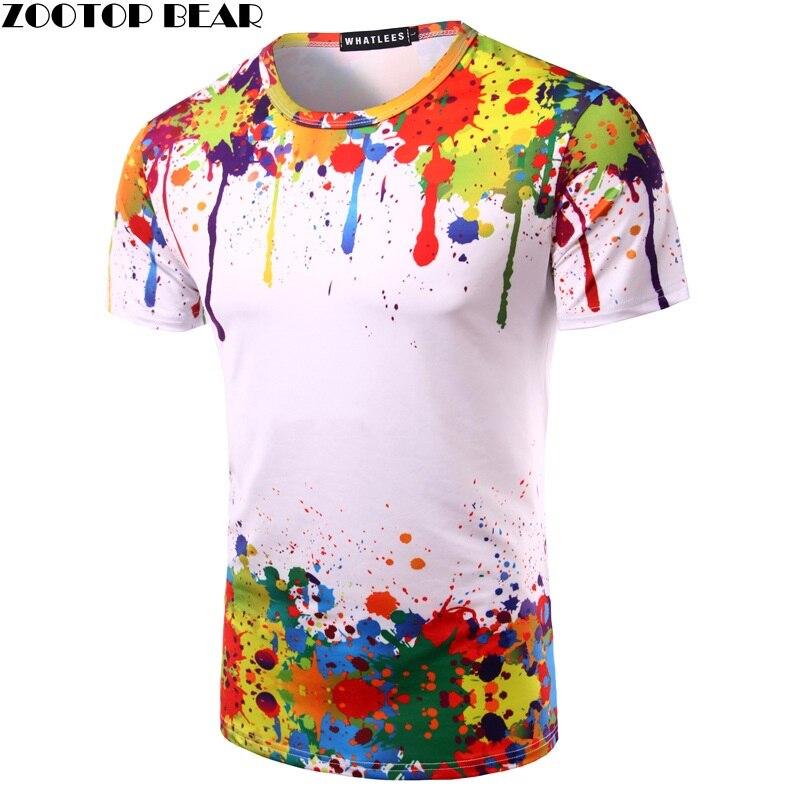 Tops T shirt Men Printed 3D T-shirts Tees ZOOTOP BEAR