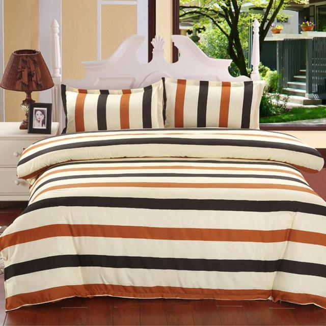 European Style Brown Tone Pattern Comforter Bedding Sets Duvet Quilt Cover Pillowcase Bedding Decor 3 Size