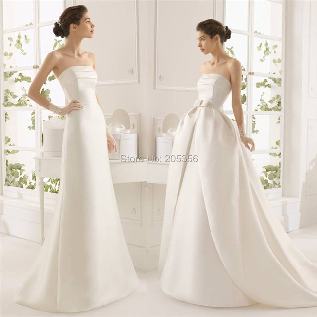 New Arrival Elegant Multi Used Ball Gown Satin Wedding Dresses ...