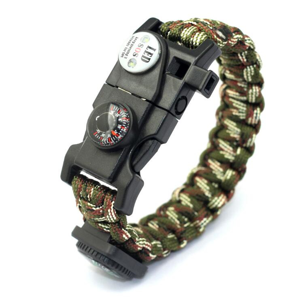 Braided Bracelet Men's Multi-purpose Survival Outdoor Emergency Bracelet Live Training Mountaineering Equipment