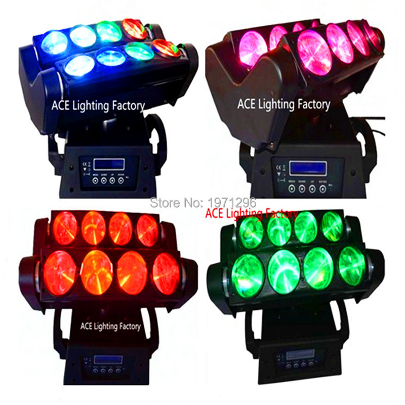 4pcs/lot Fast&Free shipping 8x10W 4IN1 RGBW LED Spider Moving Head Beam Light DMX Led Light 3 Degree Beam Angle Led Stage Lights 4 pieces fast shipping mini 8x10w 4in1 rgbw mini led spider moving head beam light dmx led spider light spider led moving head