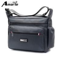 Amarte Men Bag 2018 New Fashion Mens Shoulder Bags High Quality Oxford Casual Messenger Bag Business