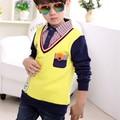 Korean Style Spring Autumn Brand Boys Shirts Kids Clothes Children Clothing 1pc Infant Casual Tops Cotton Blouse Shirt Boy 1-14Y