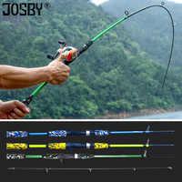 Spinning Casting Hand Locken Angelrute Pesca Carbon Pole Canne Karpfen Fliegen Getriebe Reel Sitz feeder Ultraleicht Mini Reise Surf 1,8 M