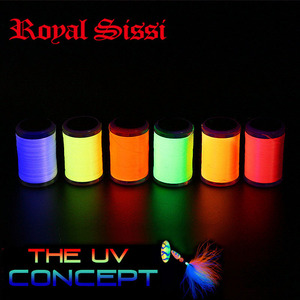 6 UV fluo colors set 6/0 fly tying thread 250yards per spool 150D dubbing thread with UV reflection effect for trout bass flies(China)