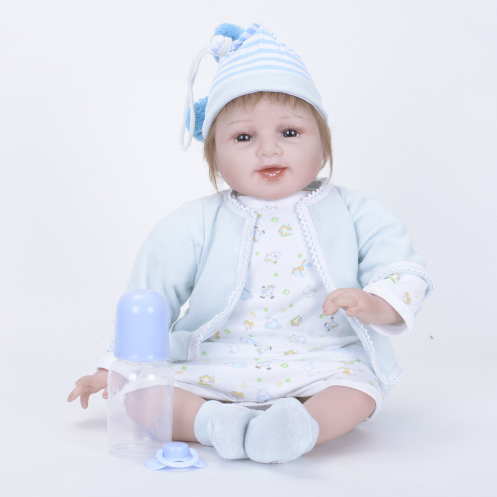 55cm Lovely Reborn Princess Girl Doll Soft Silicone Realistic Newborn Baby with Cloth Body Toy for Kids Birthday Xmas Gift Bebe 22 inches realistic reborn girl doll soft silicone lovely princess newborn baby with cloth body toy for kids birthday xmas gift