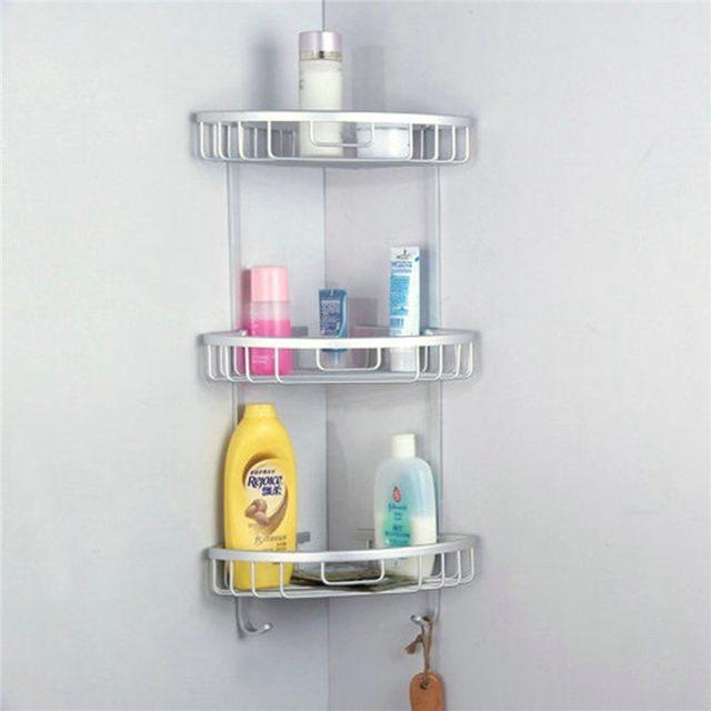 Online Shop 3 Sizes Space Aluminum Triangular Shower Caddy Shelf ...