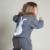 Campure Nuevo 2016 Ropa Niños niños Suéteres Estilo de Inglaterra Suéter 1-5Yrs Bebé Niños Niñas Knit Suéter de Conejo de Dibujos Animados de Algodón