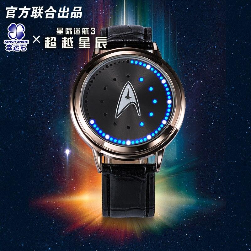Star Trek models spock LED waterproof touch screen font b watch b font Hollywood Movie TV