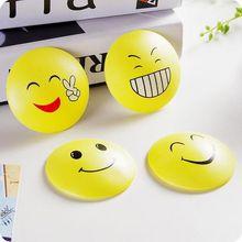 Popular  Smile Face Door Doorknob Back Wall Protector Savor Shockproof Crash Pad.