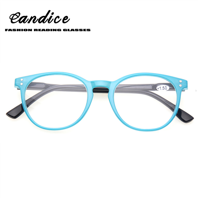 8459a2feb57f Henotin Fashion round frames Reading Glasses for Women Spring Hinge quality  readers colorful Ladies eyeglasses