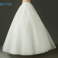 BRITNRY New Arrival Ball Gown Bridal Petticoat For Women 3 Hoops Organza Tulle Underskirt Wedding Accessories