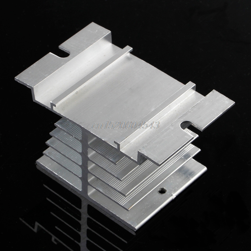 1Pc Single Phase Solid State Relay SSR Heat Sink Aluminum Dissipation Radiator R06 Drop Ship single phase solid state relay ssr 25da 25a 3 32v dc 90 480vac heat sink