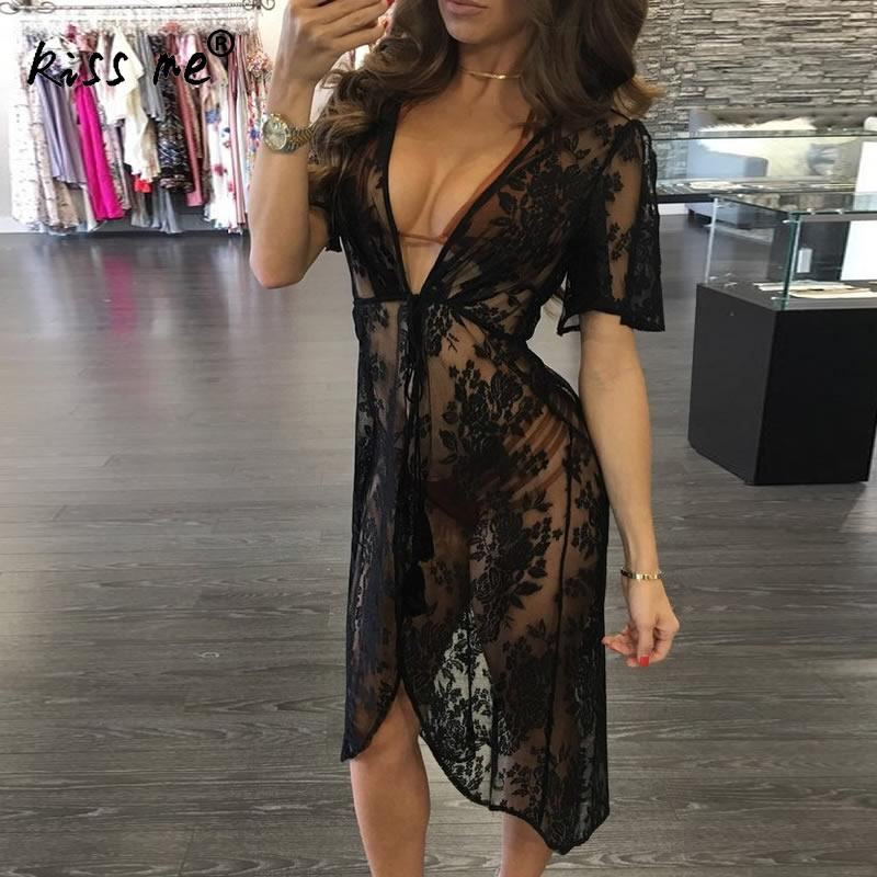 Lace Pareo Beach Cover Up Hollow 2018 New Bikini Cover Up Robe De Plage Summer Beachwear Cardigan Dress Women Swimsuit Cover Ups in Cover Ups from Sports Entertainment