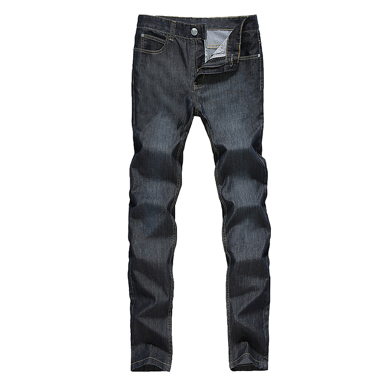 Men s Summer Thin Denim Jeans Solid Lightweight Jeans New Male Full Length Straight Denim Jeans