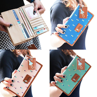 Purse Wallet PU Leather Stripes Print Pattern Zipper Closure Hand Bag For Women 88 LBY2017