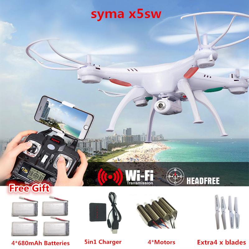 SYMA X5SW RC Drone avec caméra SYMA X5C mise à niveau WiFi caméra RC quadrirotor 2.4G Quadrocopter 6 axes avec caméra VS H31 X5SW-1
