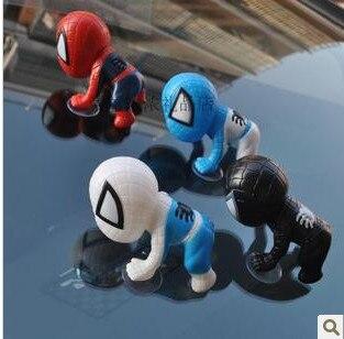 Spider Man 16cm Dish suction style Spider-Man Toy Doll Car Decoration Car Trim Free Shipping