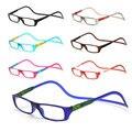 Homens e Mulheres Unisex Óculos de Leitura Ímã Ajustável Colorido Pendurado No Pescoço Frente Rim Óculos de Leitura Magnética
