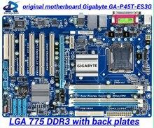 for Gigabyte GA-P45T-ES3G original motherboard P45 Desktop motherborad P45T-ES3G LGA 775 DDR3 GA-P45T-ES3G boards Free shipping