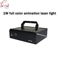 1 W kolorowy animacja światła laserowego etap oświetlenie sound control bar sala światła laserowego KTV kreskówki flash 110/220 V 1 pc