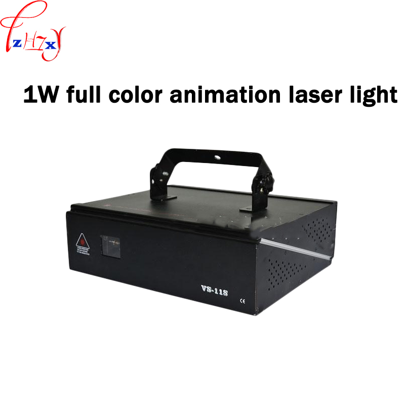 1W full color animation laser light stage lighting sound control bar room KTV cartoon light laser flash 110/220V 1pc