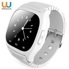 Uwatch smart watch m26 bluetooth wecker anti-verlorene passometer thermometer rufannahme sms erinnert smartwatch für ios telefon