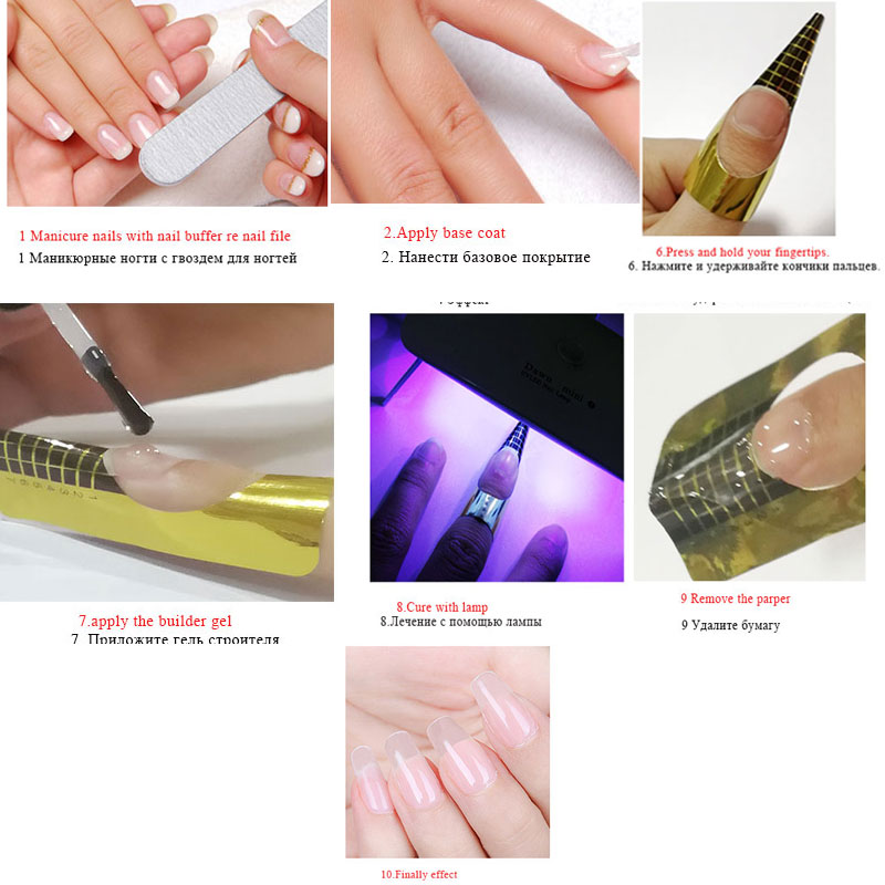 Beateal 8ml Free Shipping Thick Builder Gel Nails Prolong Finger Extension Nail Gel Polish UV Gel Clear Camouflage Nail Art tips