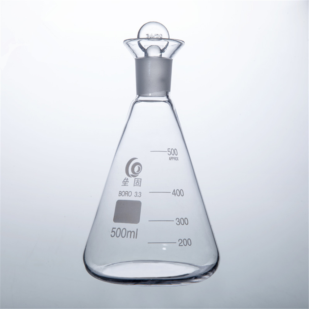 500ml Iodin Determination Flask  Grinding Mouth  Conical flask For Chemistry Laboratory купить