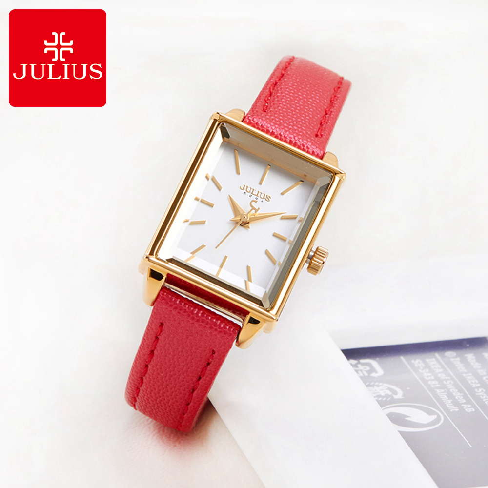 Top originaal JULIUS 787 naiste moe juhuslik kvarts kellad nahast hea - Naiste käekellad