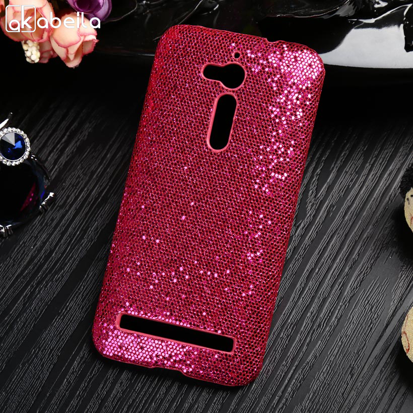 AKABEILA Hot Pink Mobile Phone Case For ASUS ZenFone Go Case PC+PU Phone Covers